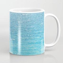 Water, Blue, Sea, Ocean, Minimal, Pattern, Modern art Coffee Mug