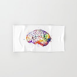 Brain Art Human Brain Anatomy Art Brain Watercolor Anatomy Decor Anatomical Brain Medical Art Hand & Bath Towel