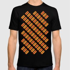 Pixel Hot Dogs Black Mens Fitted Tee MEDIUM