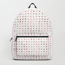 XOXO Love Me Rose Gold Pattern 3 Backpack
