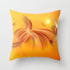 Fairies of the Sun Throw Pillow