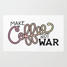 Coffee Not War (Sunset) Rug