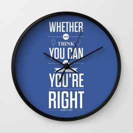 Lab No. 4 - Henry Ford Life Inspirational Typogarphy Quotes Poster Wall Clock