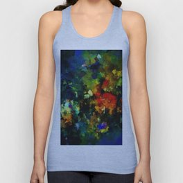 Dark Abstract Painting Unisex Tank Top