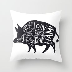 Sir Loin  Throw Pillow