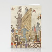 literary Stationery Cards featuring St. Petersburg Literary Map by Ilya Merenzon