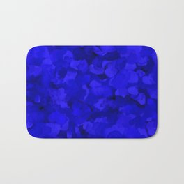 Rich Cobalt Blue Abstract Bath Mat