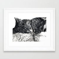 charlie Framed Art Prints featuring Charlie by Lucy Schmidt Art