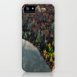 Dry Autumn Forest from Bird's eyes iPhone Case