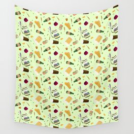 Cute Beer Pattern Wall Tapestry