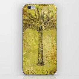 Vintage Journey palmtree typography travel collage iPhone Skin