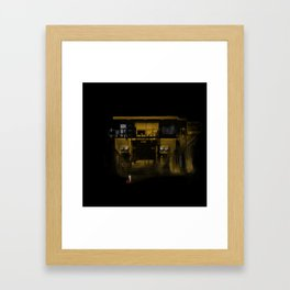 Dump Truck Vs Matador Framed Art Print