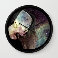 psychology Wall Clocks featuring Psychology Of Stylistic Change by mofart photomontages