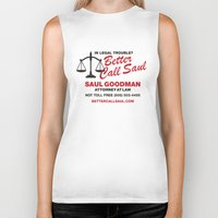 better call saul Biker Tanks featuring Better Call Saul  by Laundry Factory