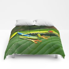 Green Tree Frog Red-Eyed Comforters