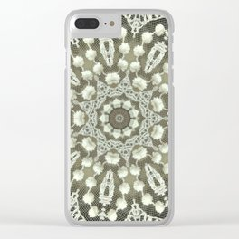 lace vintage style 3 Clear iPhone Case