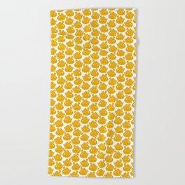 Gold Crown Lynn Swans Beach Towel