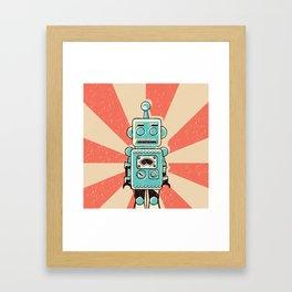 Retro Robot Framed Art Print