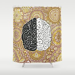 Big Brain ! Shower Curtain