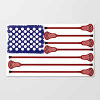 lacrosse Canvas Prints featuring Lacrosse AmericasGame by YouGotThat.com