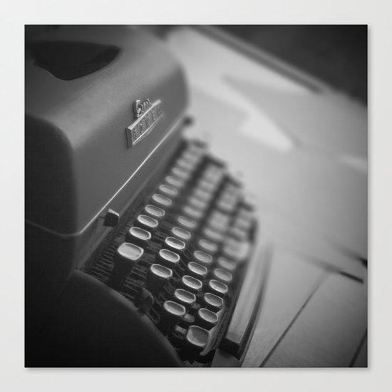 Black and White Typewriter  Canvas Print