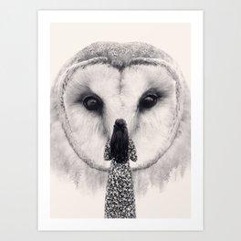My Nocturnal Friend Art Print