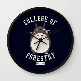 College of Forestry ghibli Wall Clock