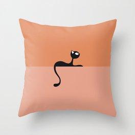 Evening rest cat Throw Pillow