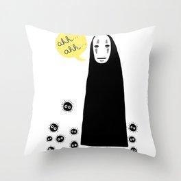 Spirited Away No Face Ahh..Ahh... Throw Pillow