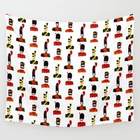 moustache Wall Tapestries featuring Moustache Soldiers by Marijke Buurlage