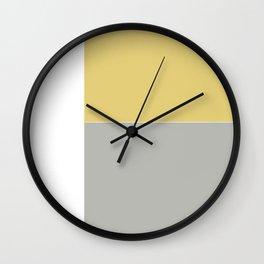 Gray and Yellow Wall Clock