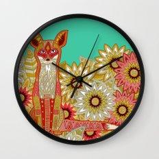 garden fox Wall Clock