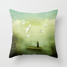 If Wishes Were Wings this Dreamer Would Fly Throw Pillow