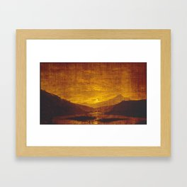 Caspar David Friedrich Mountainous River Landscape Framed Art Print