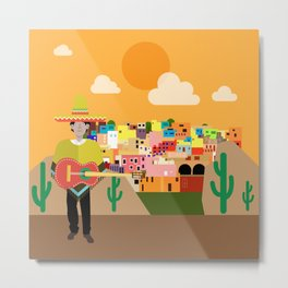 in Mexico City between mountains Metal Print