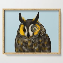 Monocle Owl Serving Tray