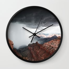 a storm in the grand canyon Wall Clock