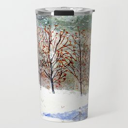 Snowy Trees along Moon Lake in Dewdrop Holler Travel Mug