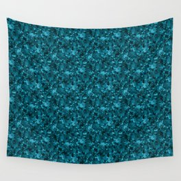 Teal Camelflage Wall Tapestry