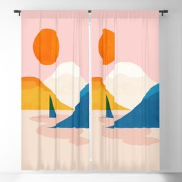Abstraction_Lake_Sunset_Minimalism_002 Blackout Curtain