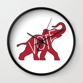 Vote Republican Party Red Elephant Wall Clock