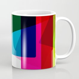 RAINBOW SQUARES Abstract Art Coffee Mug