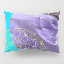 Mystical Flower of Life Amethyst #society6 Pillow Sham