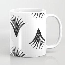 Pandanus Leaf Pattern - Black Coffee Mug
