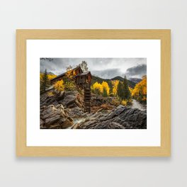 CRYSTAL MILL COLORADO IN FALL PHOTO - AUTUMN IMAGE - MOUNTAIN PICTURE - LANDSCAPE PHOTOGRAPHY Framed Art Print