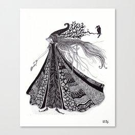 Wood Fairy Warrior Canvas Print
