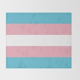 Trans Pride Throw Blanket