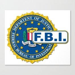 FBI Seal Mockup Canvas Print