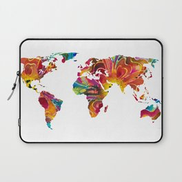 Map of The World 2 -Colorful Abstract Art Laptop Sleeve