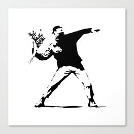 Rage, Flower Thrower - Banksy Canvas Print